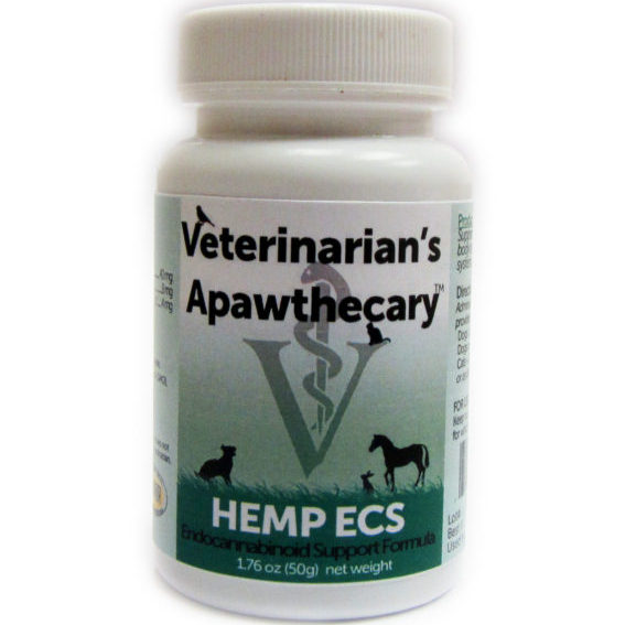"""One of the most important medical advances in history is the discovery of the Endocannabinoid System (ECS) – a complex network of receptors and signaling molecules (Endocannabinoids) found throughout the bodies of every mammal on Earth--- including dogs  and cats.   Discovered in Israel in the 1990's the ECS helps maintain a balanced state of health and well-being across multiple systems of the body, including the neurological, cardiovascular, skin, respiratory, immune, gastrointestinal and musculoskeletal systems.  Although the body produces some of its own endocannabinoids, these lipid-based based chemicals tend to break down rapidly, requiring support from outside of the body in the form of phytocannabinoids.  Phytocannabinoids are found in variety of foods and herbs,  such as carrots, hops, oregano, clove and black pepper, to name a few.  But the greatest concentrations of phytocannabinoids are found in the stalks of non-psychotropic varieties of Cannabis sativa L. ; """"Industrial Hemp"""".   Many ECS support products on the market today obtain their Cannabis from multiple sources and employ various techniques of chemical manipulation to either take away psychotropic tetrahydrocannabinol (THC) or add in additional phytocannabinoids, such as CBD.   Not ours. The hemp we use is from a single, USA- based supplier that oversees the entire process of growing and producing the finest,  phytocannabinoid-rich plants in Northern Europe.  Only seed-bank certified,  genotyped strains of low THC, high phytocannabinoid (CBD, CBG, CBDa) plants are used to produce hemp extracts that are rich in naturally occurring phytocannabinoids.  Just as Nature intended.  * 100% legal in all 50 States- contains less than 0.3% THC * Grown by European Eco-Farming Practices * European Non-GMO Hemp * Phosphatidylcholine added to increase absorption * Tested for  Pesticides, Herbicides  and other impurities * No organic solvents & never irradiated * Flavored with organic sweet potato * Serving Scoop"""